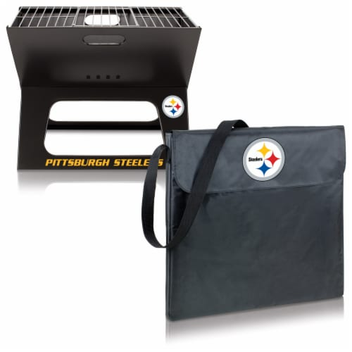 Pittsburgh Steelers - X-Grill Portable Charcoal BBQ Grill Perspective: top