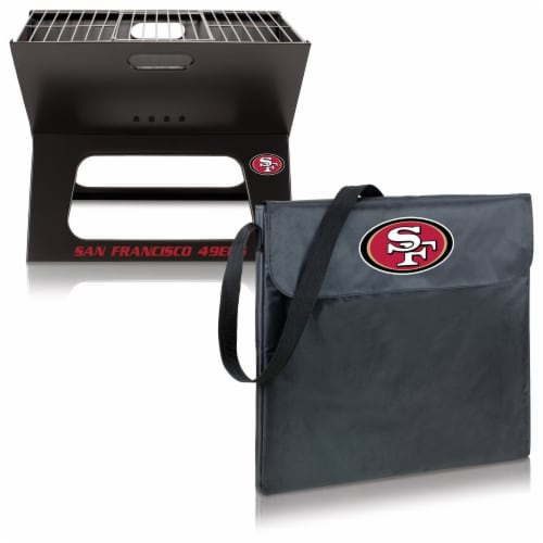 San Francisco 49ers - X-Grill Portable Charcoal BBQ Grill Perspective: top