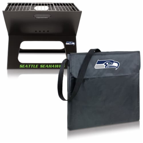Seattle Seahawks - X-Grill Portable Charcoal BBQ Grill Perspective: top