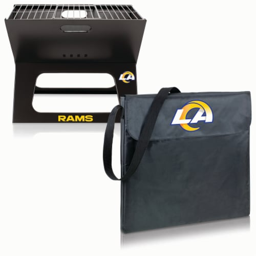 Los Angeles Rams - X-Grill Portable Charcoal BBQ Grill Perspective: top