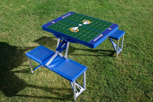 Los Angeles Rams - Picnic Table Portable Folding Table with Seats Perspective: top