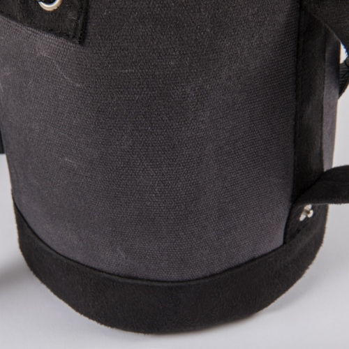 Insulated Growler Tote, Gray with Black Accents Perspective: top
