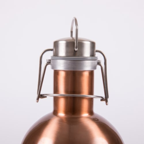Stainless Steel 64 oz. Growler, Copper Perspective: top