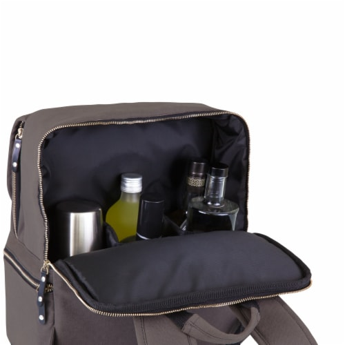 Bar-Backpack Portable Cocktail Set, Gray Perspective: top