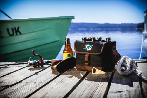 Miami Dolphins - Beer Caddy Cooler Tote with Opener Perspective: top