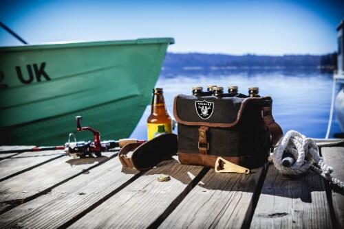 Las Vegas Raiders - Beer Caddy Cooler Tote with Opener Perspective: top