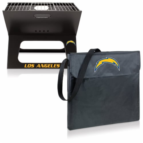 Los Angeles Chargers - X-Grill Portable Charcoal BBQ Grill Perspective: top