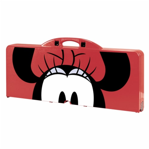 Disney Minnie Mouse - Picnic Table Portable Folding Table with Seats, Red Perspective: top