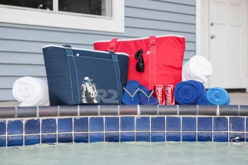 Star Wars R2-D2 - Topanga Cooler Tote Bag, Navy Blue Perspective: top