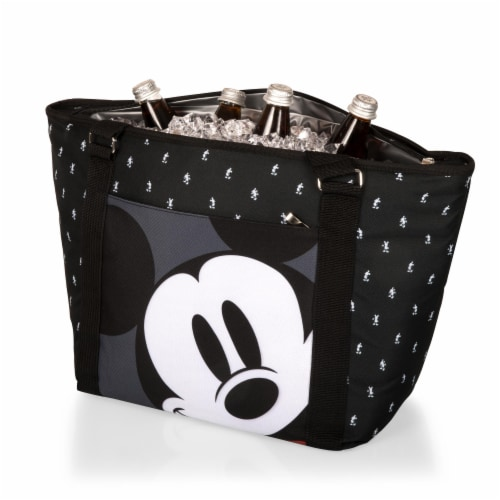Disney Mickey Mouse - Cooler Tote Bag, Mickey Mouse Step & Repeat Pattern Perspective: top