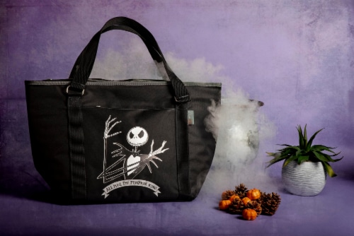 Disney Nightmare Before Christmas Jack - Topanga Cooler Tote Bag, Black Perspective: top