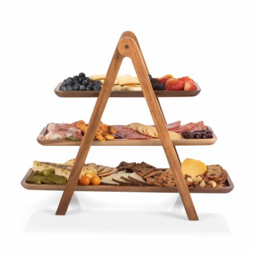 Las Vegas Raiders - Serving Ladder - 3 Tiered Serving Station Perspective: top
