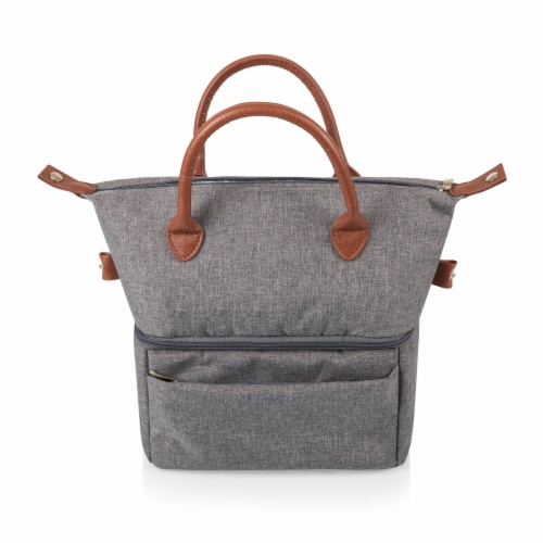 Urban Lunch Bag, Heathered Gray Perspective: top