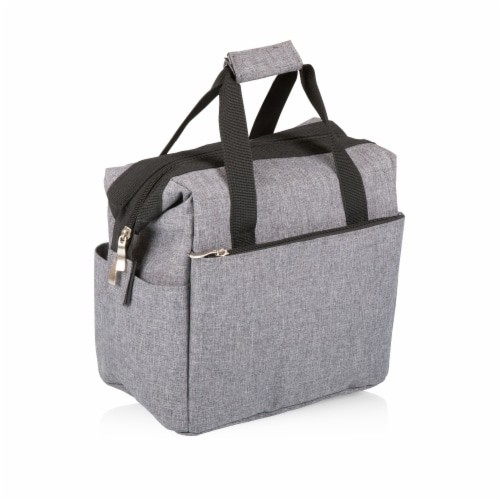 On The Go Lunch Cooler, Heathered Gray Perspective: top