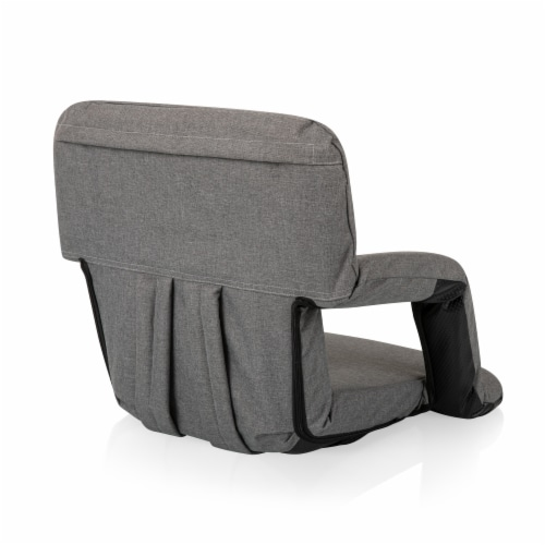 Ventura Portable Reclining Stadium Seat, Heathered Gray Perspective: top