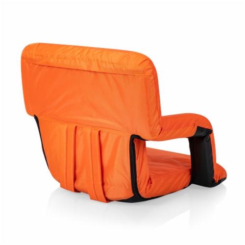 Ventura Portable Reclining Stadium Seat, Orange Perspective: top