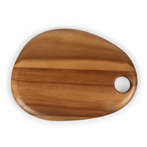 "Pebble Shaped Acacia Serving Board 12"" x 9"", Natural Acacia Perspective: top"