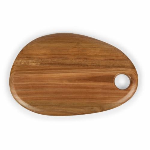 """Pebble Shaped Acacia Serving Board 15"""" x 10"""", Natural Acacia Perspective: top"""