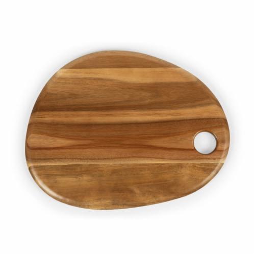 """Pebble Shaped Acacia Serving Board 18"""" x 15"""", Natural Acacia Perspective: top"""