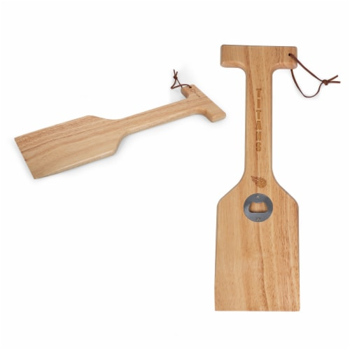 Tennessee Titans - Hardwood BBQ Grill Scraper with Bottle Opener Perspective: top