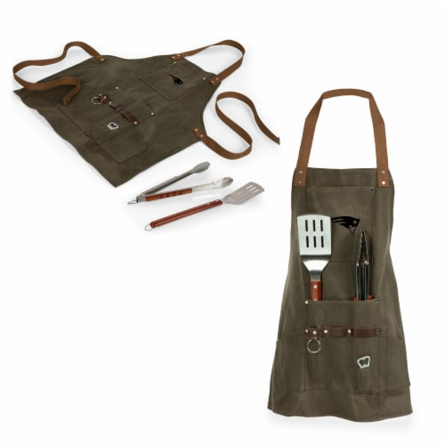 New England Patriots - BBQ Apron with Tools & Bottle Opener Perspective: top