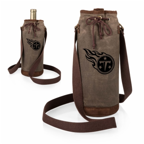 Tennessee Titans - Waxed Canvas Wine Tote Perspective: top