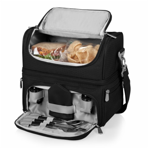 Pranzo Lunch Cooler Bag, Black Perspective: top