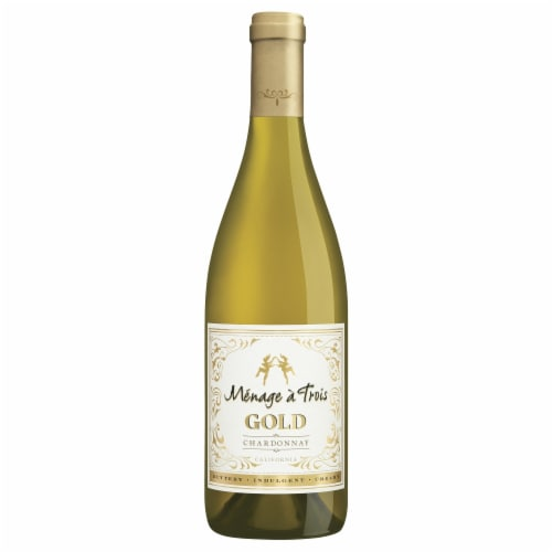 Menage a Trois Gold Chardonnay White Wine Perspective: top