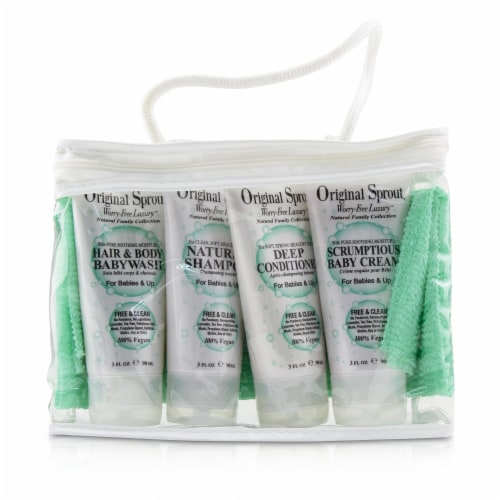 Original Sprout Original Sprout Deluxe Kit 3oz Natural Shampoo, 3oz Hair Body Baby Wash, 3oz Perspective: top
