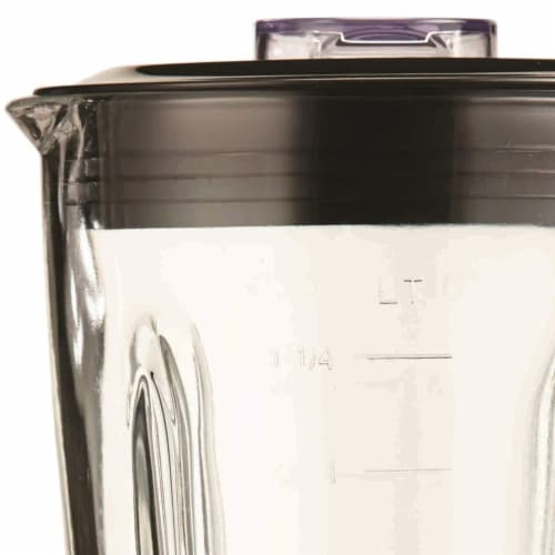 Brentwood JB-920R 12 Speed and Pulse Electric Kitchen Blender w/ Glass Jar, Red Perspective: top