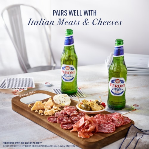 Peroni Nastro Azzurro International Pale Lager Beer Perspective: top