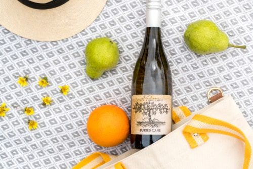 Buried Cane Chardonnay White Wine Perspective: top