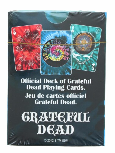 Grateful Dead Tie Dye Playing Cards | 52 Card Deck + 2 Jokers Perspective: top