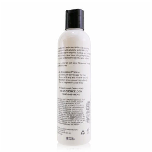 Menscience Daily Face Wash 236ml/8oz Perspective: top