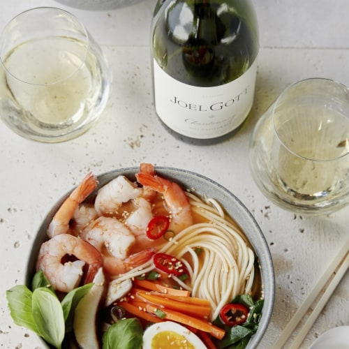 Joel Gott California Unoaked Chardonnay White Wine Perspective: top