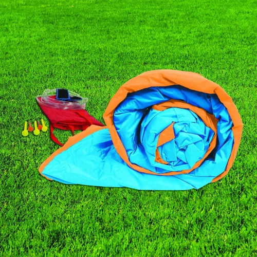 Banzai Big Slide Bouncer Outdoor Inflatable Kids Playhouse and Slide with Blower Perspective: top