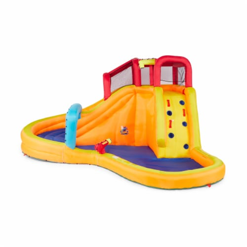 Banzai Kids Inflatable Outdoor Lazy River Adventure Water Park Slide and Pool Perspective: top