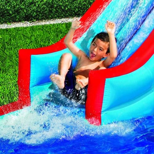 Banzai Slide N Soak Splash Park Inflatable Outdoor Kids Water Park Play Center Perspective: top