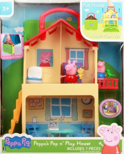 Peppa Pig Pop 'n' Play House Set Perspective: top