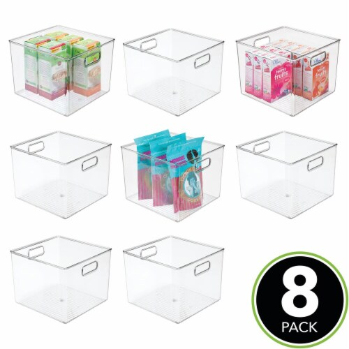 mDesign Plastic Kitchen Food Storage Organizer Bin - 8 Pack Perspective: top