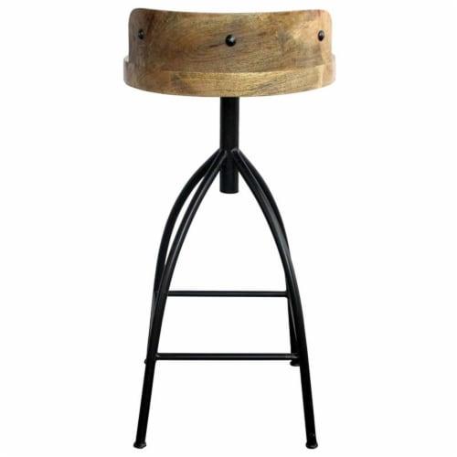 Industrial Style Adjustable Swivel Bar Stool With Backrest ,Saltoro Sherpi Perspective: top