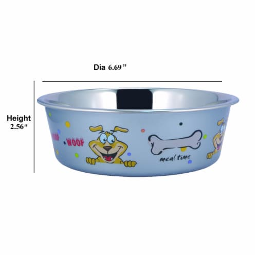 Saltoro Sherpi Multi Print Stainless Steel Dog Bowl By Boomer N Chaser (Set of 12) Perspective: top