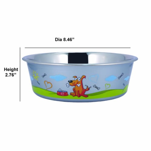 Saltoro Sherpi Set of 24 Multi Print Stainless Steel Dog Bowl By Boomer N Chaser Perspective: top