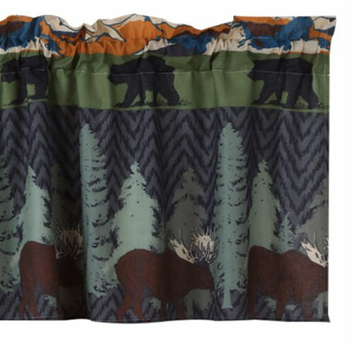 Saltoro Sherpi Polyester Valance with Nature Inspired Print, Multicolor Perspective: top