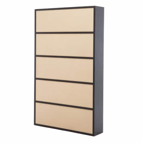 78 Inches Wooden Bookcase with 15 Open Compartments, Gray Perspective: top