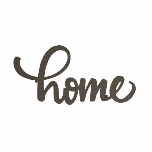 Metal Cutout- Home Decorative Wall Sign-3D Word Art Home Accent Decor Perspective: top