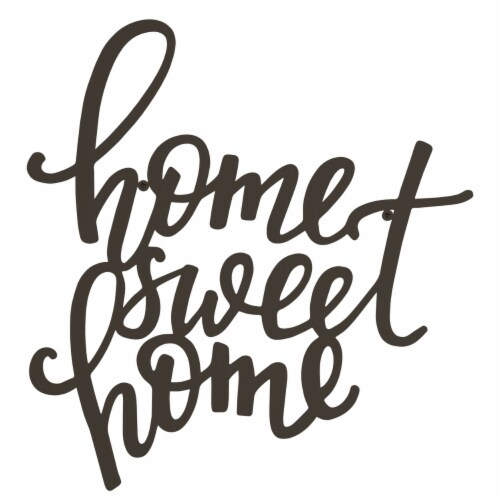 Metal Cutout- Home Sweet Home Decorative Wall Sign-3D Word Art Home Accent Decor Perspective: top