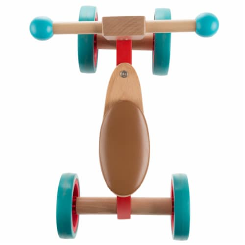 Walk and Ride Wooden 4 Wheel Tricycle with Seat Walking 1 - 2 Yrs Old Perspective: top