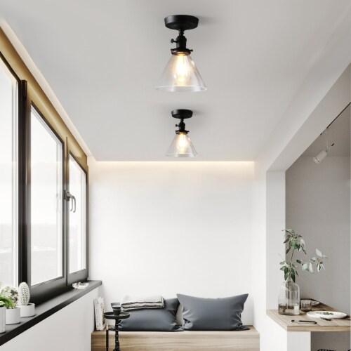 7.3 in. 1-Light Semi Flush Mount Light Perspective: top