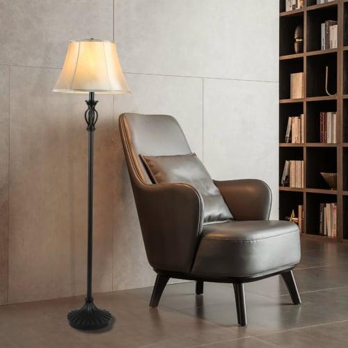 Cedar Hill 59-in Dark Bronze Floor lamp Perspective: top